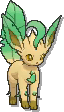 Leafeon Shiny sprite from Ultra Sun & Ultra Moon