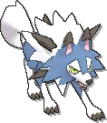 Lycanroc Shiny sprite from Ultra Sun & Ultra Moon
