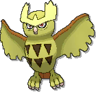 Noctowl Shiny sprite from Ultra Sun & Ultra Moon