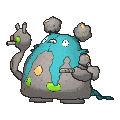Garbodor Shiny sprite from X & Y